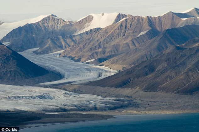 A glacier on Bylot Island, Canada: The island is almost desolate of wildlife - but this could chance as the area warms