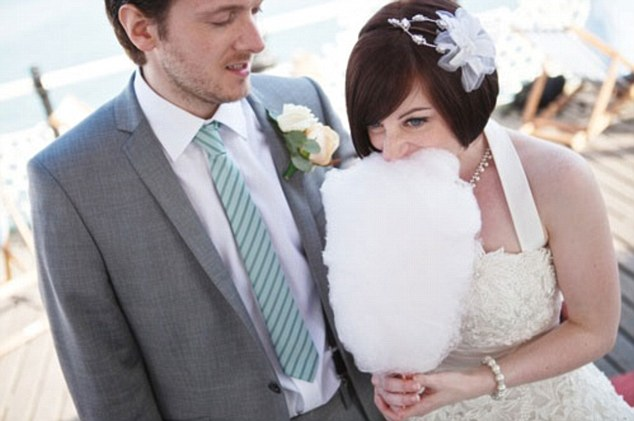 Wedding Day: Mr Forrest with his wife Emily - but he has now run off with one of his maths students