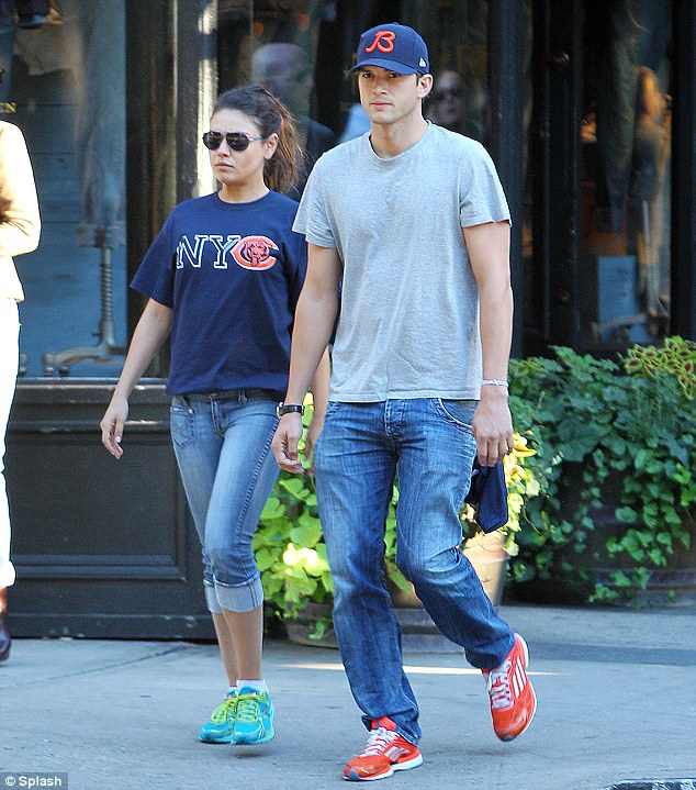 PDA-free: Mila and Ashton were out walking this morning, but weren't so touchy feely