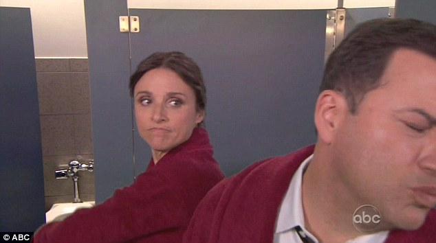 Last few for good measure: Veep star Julia Louis-Dreyfus appears at the last minute to throw a few punches