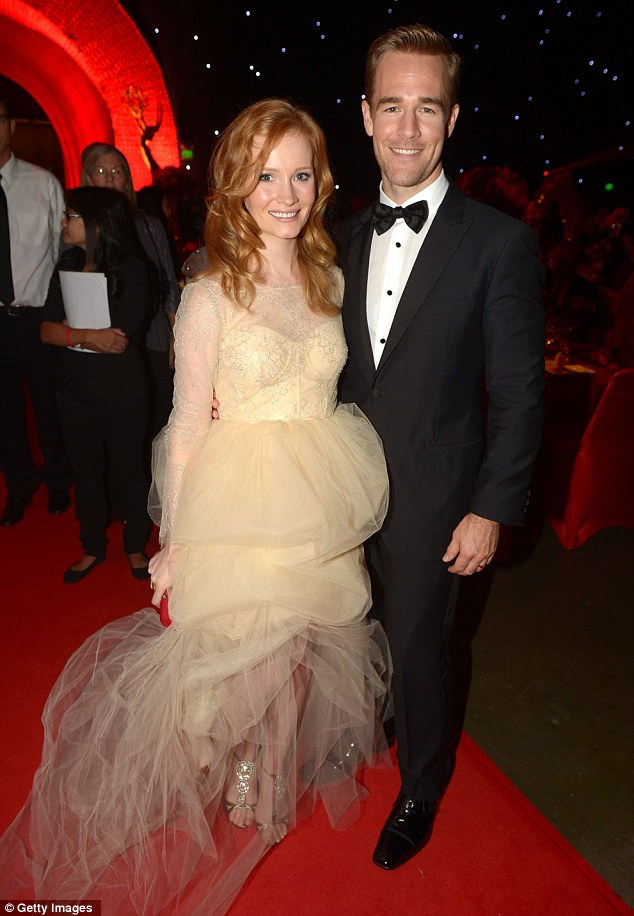 Star studded:  James Van Der Beek and wife Kimberly were among the big names at the party