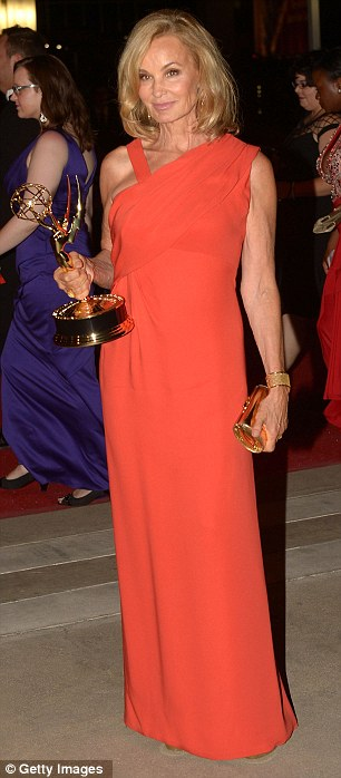 Big winners: American Horror Story star Jessica Lange scooped the best actress award, while