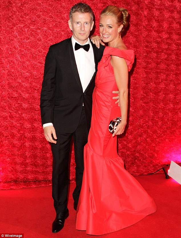 Cat that got the cream: The So You Think You Can Dance host couldn't keep the smile off her face as she put her arm around her Irish beau