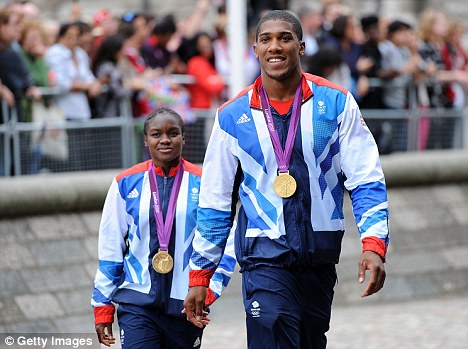 Career opportunities: Boxers like Anthony Joshua (right) could have new routes