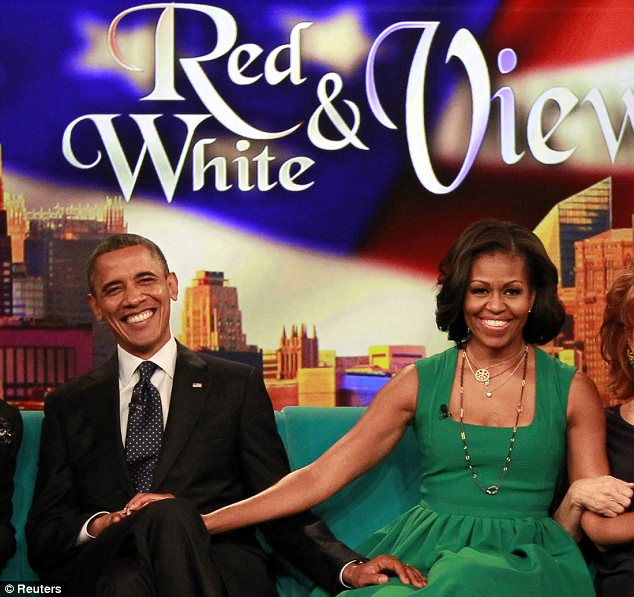 Priority: Barack Obama joined his wife Michelle on the set of The View this week instead of meeting leaders