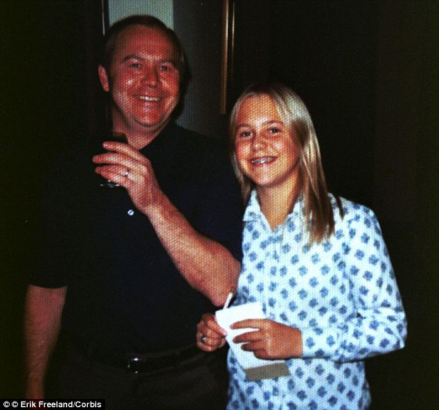 Daddy's girl: Pictured here with her father, David Moxley