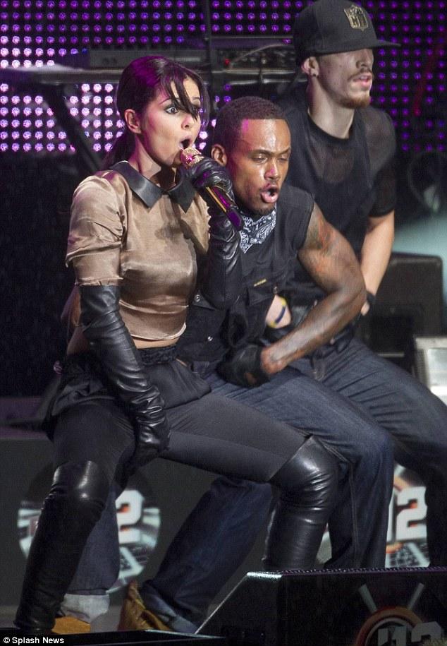 Queen of Pop: Cheryl channeled pop legend Michael Jackson as she danced for fans in Copenhagen