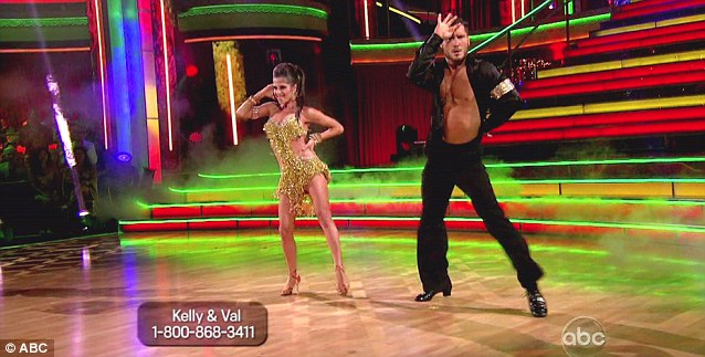 Partners in dance: Season one champion Kelly Monaco returned to perform an impressive number with Val Chmerkovskiy