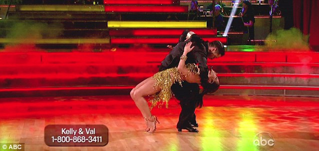 Steaming up the dance floor: Val and Kelly's chemistry during the number was praised by the judges