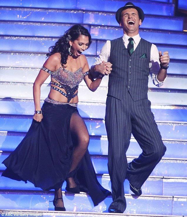 Needing more work: Melissa Rycroft's dance with Tony Dovolani was a 'tad too theatrical' for Len