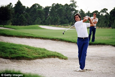 Genius: Seve Ballesteros plays out of a bunker during the 1983 Ryder Cup