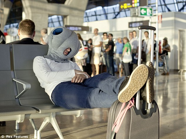No more distractions: The invention is designed to block out any noise or bright lights, making it perfect for a bustling airport