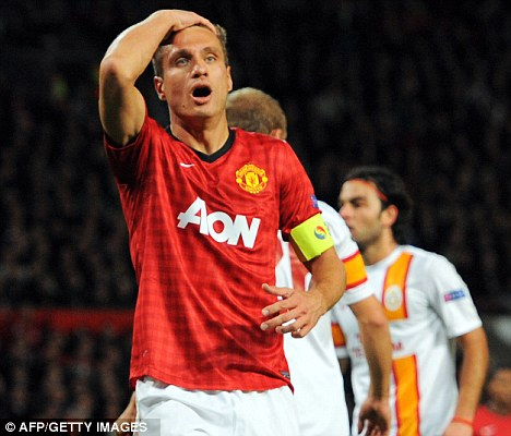 Nightmare: Nemanja Vidic has been ruled out until the end of November