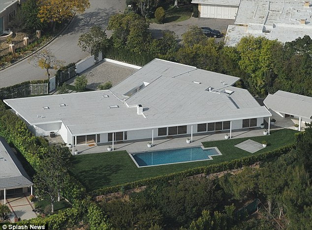 Upgrading: Elton and David are planning to raise a family in this Beverly Hills home which they bought recently