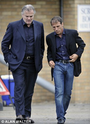 Double act: Gianluca Nani and Zola during their West Ham days