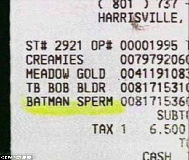 Holy cash receipts Batman someone appears to have just bought some of your bodily fluids!