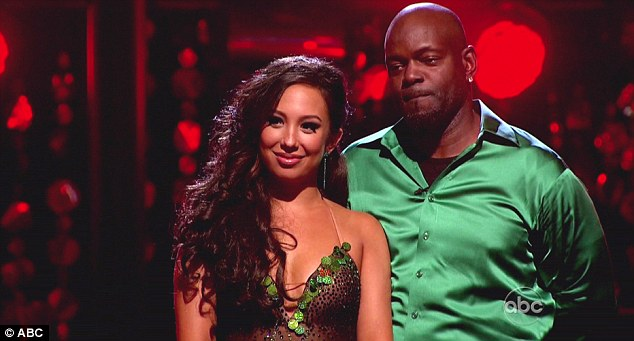 Top scoring: Cheryl Burke and Emmitt Smith sailed through to the next round after topping the leaderboard on Monday