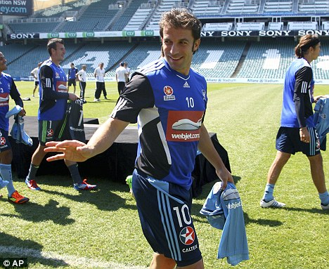 Italian job: Del Piero has headed Down Under to join Sydney FC