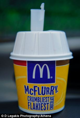 Miss Finch said she was asked to make the McFlurry a 'nice one' for her colleague who was buying it