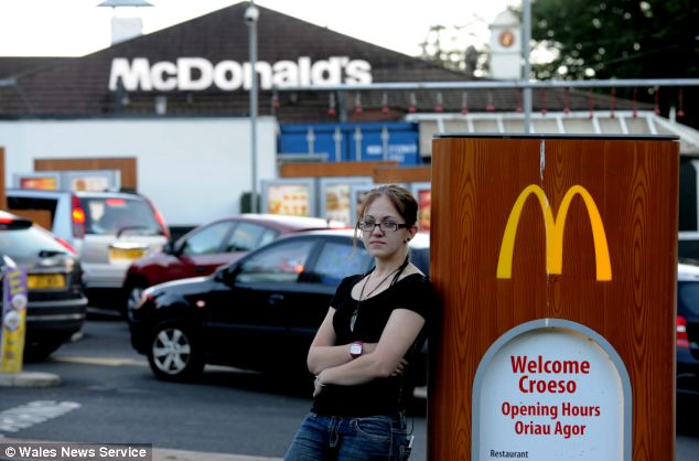 Sarah Finch, 19, claims she was sacked by a McDonald's because she gave too many flakes of chocolate to someone buying a McFlurry