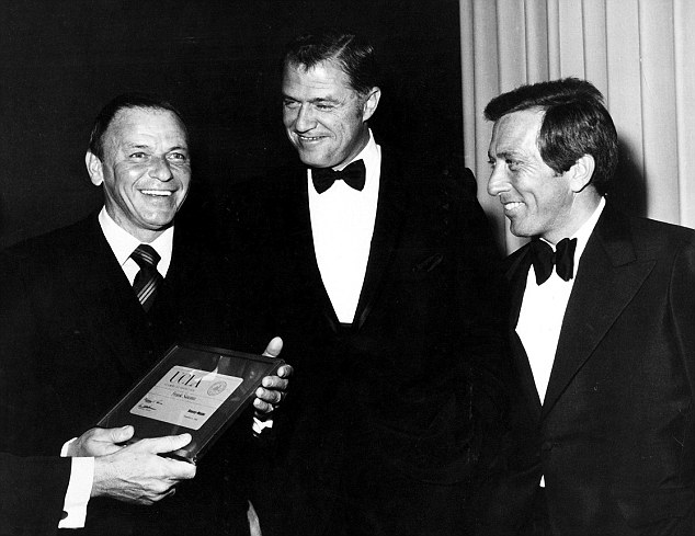 Famous friends: (left to right) Frank Sinatra, Charles Young and Andy Williams