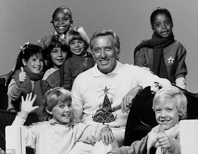 Festive spirit: The Christmas special of the Andy Williams show in 1969 which was highly popular with American TV audiences