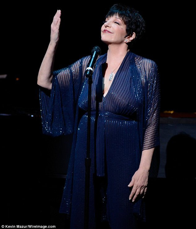 Touching tribute: Last week Liza sang If You Really Knew Me at a memorial service for the late composer Marvin Hamlisch