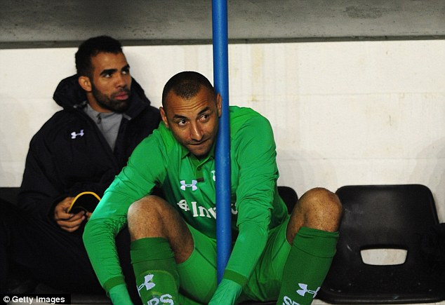 Long time, no see: Out-of-favour stopper Heurelho Gomes was on the bench