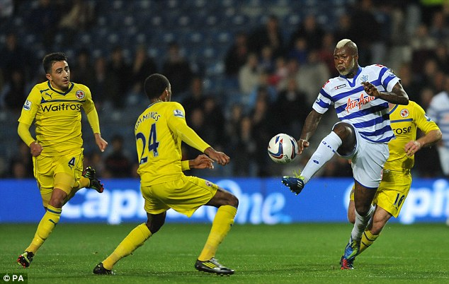 Drive: Cisse tries to beat his man