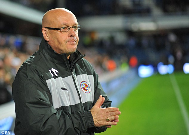 Thrilled: Reading manager Brian McDermott watches on from the sideline