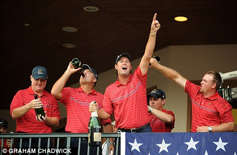 Disaster at Valhalla: The USA team celebrated a win over Faldo's Europe