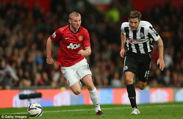 New boy: Ryan Tunnicliffe made his senior debut for United