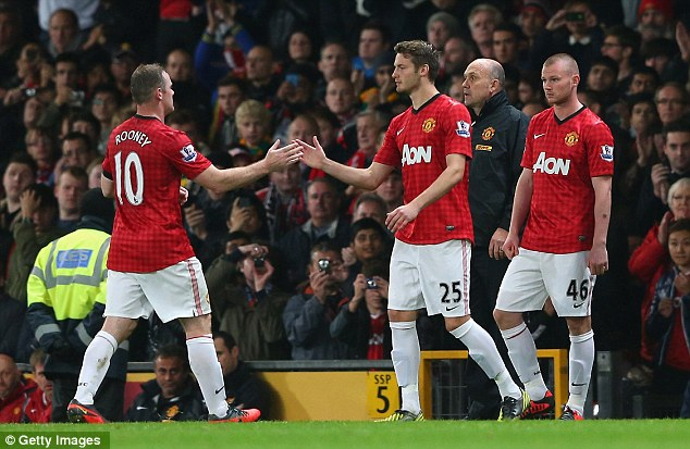 Back in action: Wayne Rooney returned after his nasty-looking injury