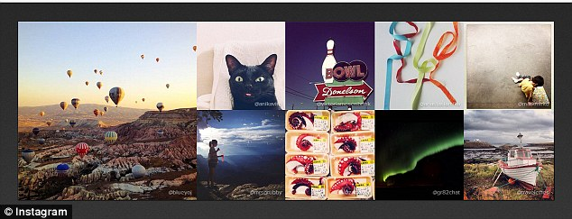 Instagram has overtaken twitter on mobile devices for the first time. The photo sharing site, which posts weekly 'best of galleries' on its blog (above) was recently bought by Facebook.