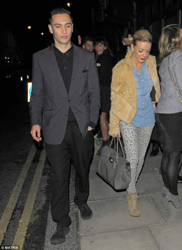 The odd couple? Sheridan and Amy's ex hit the town at the Groucho Club last night