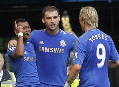 Ban him? Tony Pulis wants to see players like Branislav Ivanovic (centre) banned for diving