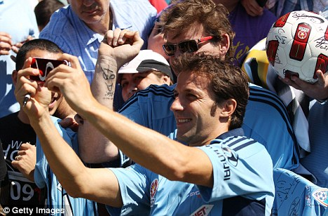 Fanatic support: Alessandro Del Piero has taken Australia by storm