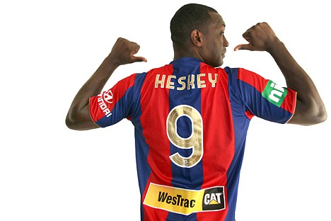 Want one of these? Emile Heskey's Jets shirts have sold out