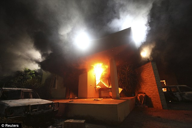Deadly attack: The consulate, located in the city of Benghazi, was reportedly bombed twice in the months leading up to the attack, which occurred on the 11th anniversary of the September 11 terror attacks