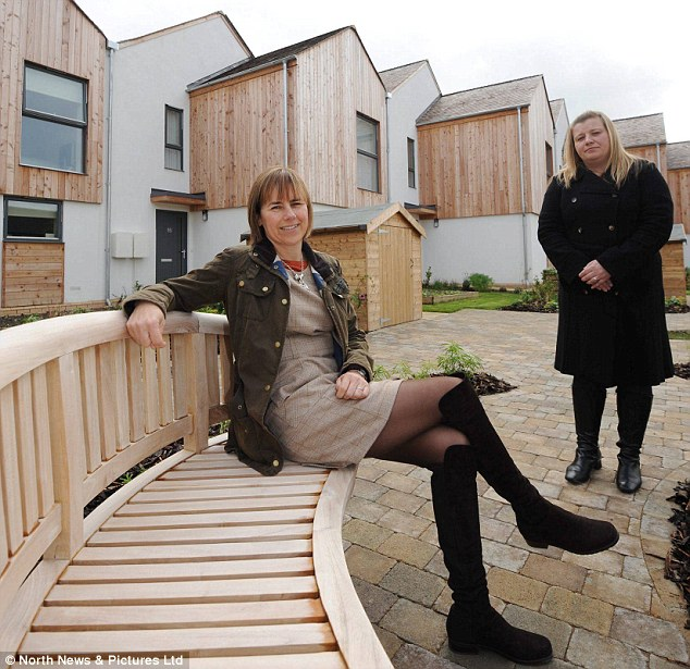 Dawn Keightley (left), Operations Director of Four Housing Group pictured with Caryn Innes (right), Development and Regeneration Manager of Four Housing Group at the development