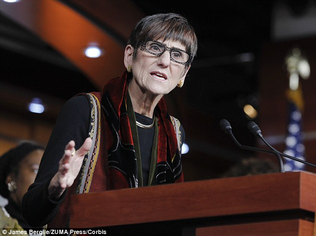 'Non-traditional': Rep. Rosa DeLauro, pictured, was also a Democrat with less gender typical features, based on assessments of the jawline, eyebrow position and eye shape, among others