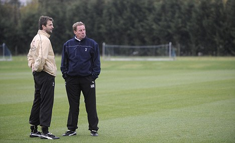No promotion: Tim Sherwood, who worked with former manager Harry Redknapp, will not be made director of football at Spurs, according to Villas-Boas