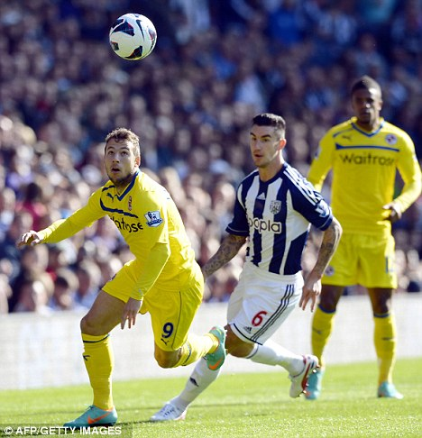 Back in training: Liam Ridgewell could be back in the West Brom line-up for the derby match with Villa