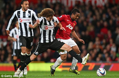 Hamstrung: Fabricio Coloccini will miss Newcastle's game at Reading after aggravating an injury in the midweek defeat at Man United