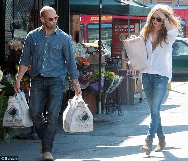 Hollywood couple: Rosie is dating British actor Jason Statham