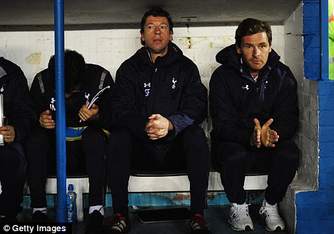 Powerless: Andre Villas-Boas (right) admits Sherwood could leave the club
