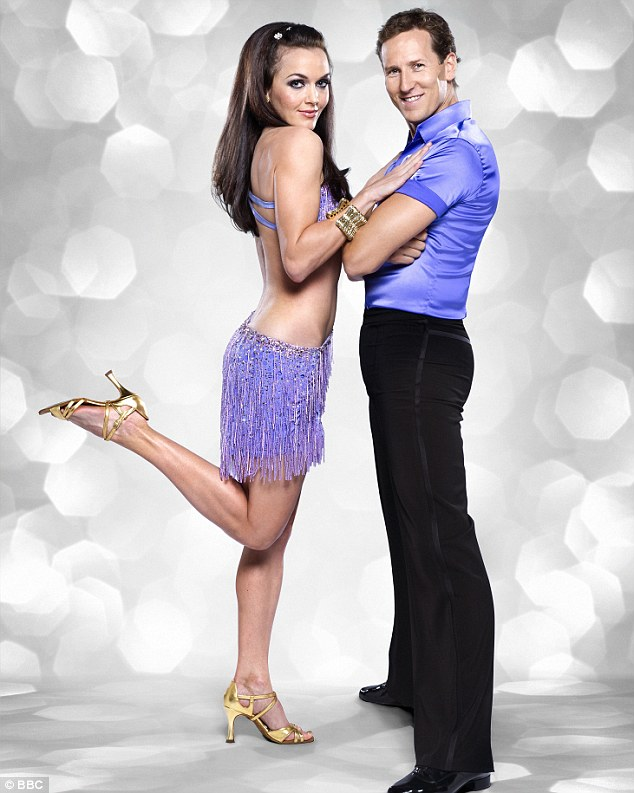 Pairing up: Victoria is partnered with Brendan Cole on the BBC show