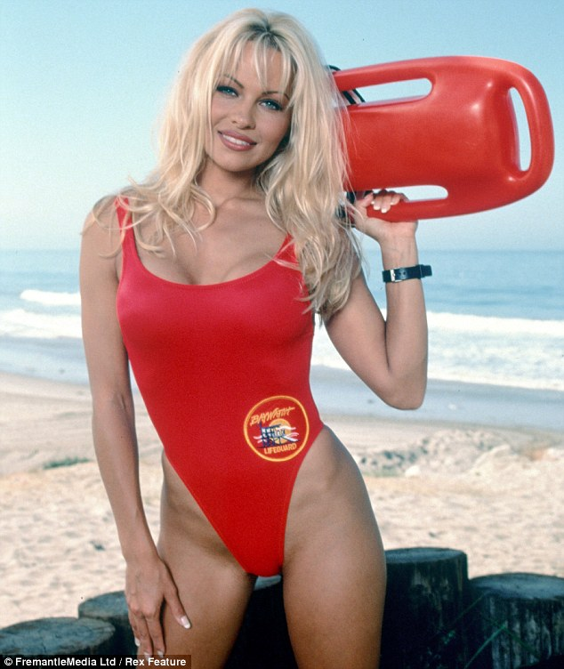 Don them again: Pamela Anderson may don the Baywatch swimsuit again, more than 15 years after she gave it up