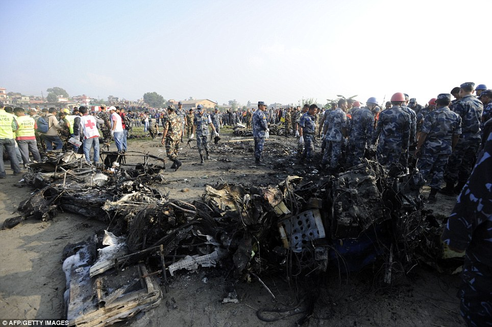 Mystery: It is not yet known what caused the crash, but the weather were good so investigators will focus on a possible fault with the aircraft