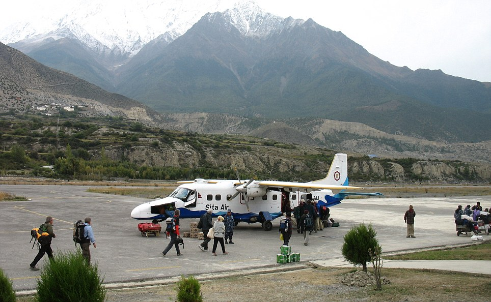 A fault with the plane? The passengers were on board a Sita Air-operated twin-engine Dornier aircraft like this one when it crashed